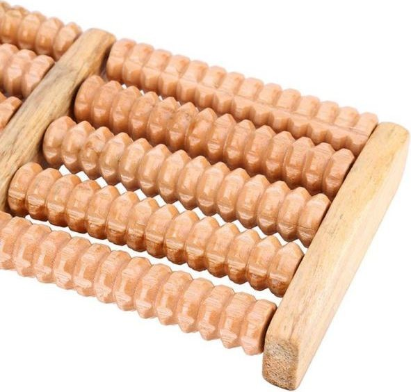 Traditional Wooden Roller Foot Massager Tool