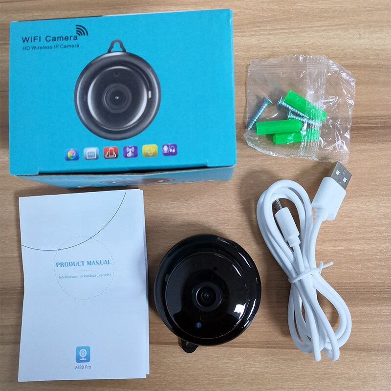 WIFI Home Security Monitoring Camera Mini Night Vision V380 HD 1080P