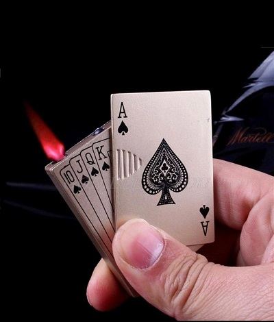 Mini Creative Poker Model Fire Starter Lighter