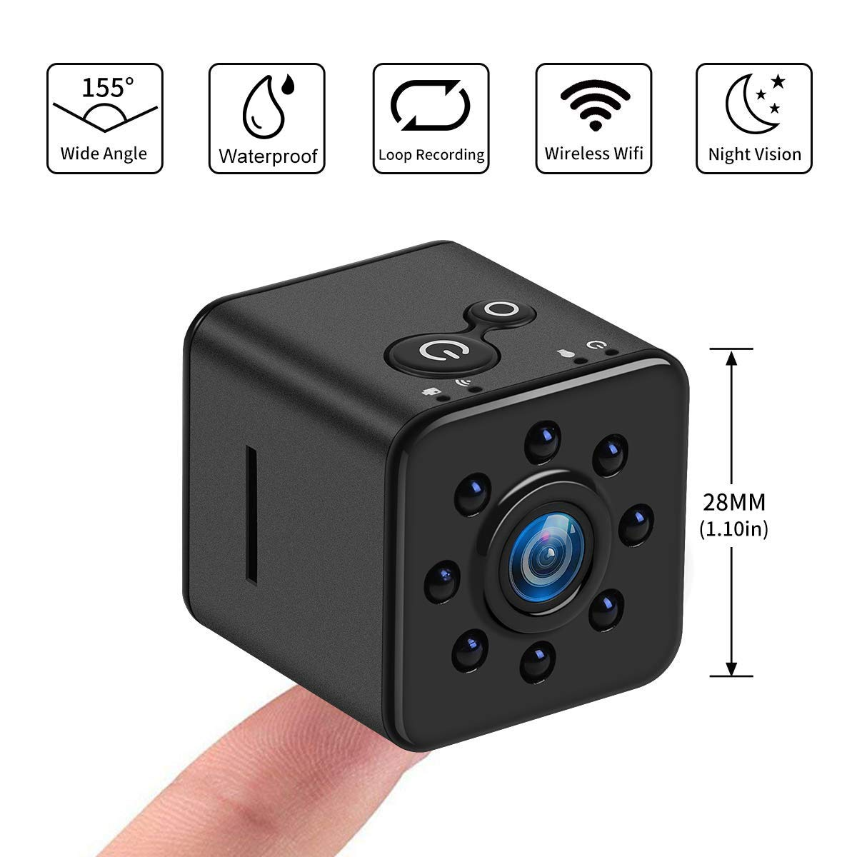 SQ13 1080P HD MAGNETIC WIFI NIGHT VISION AND WATER PROOF MINI CAMERA