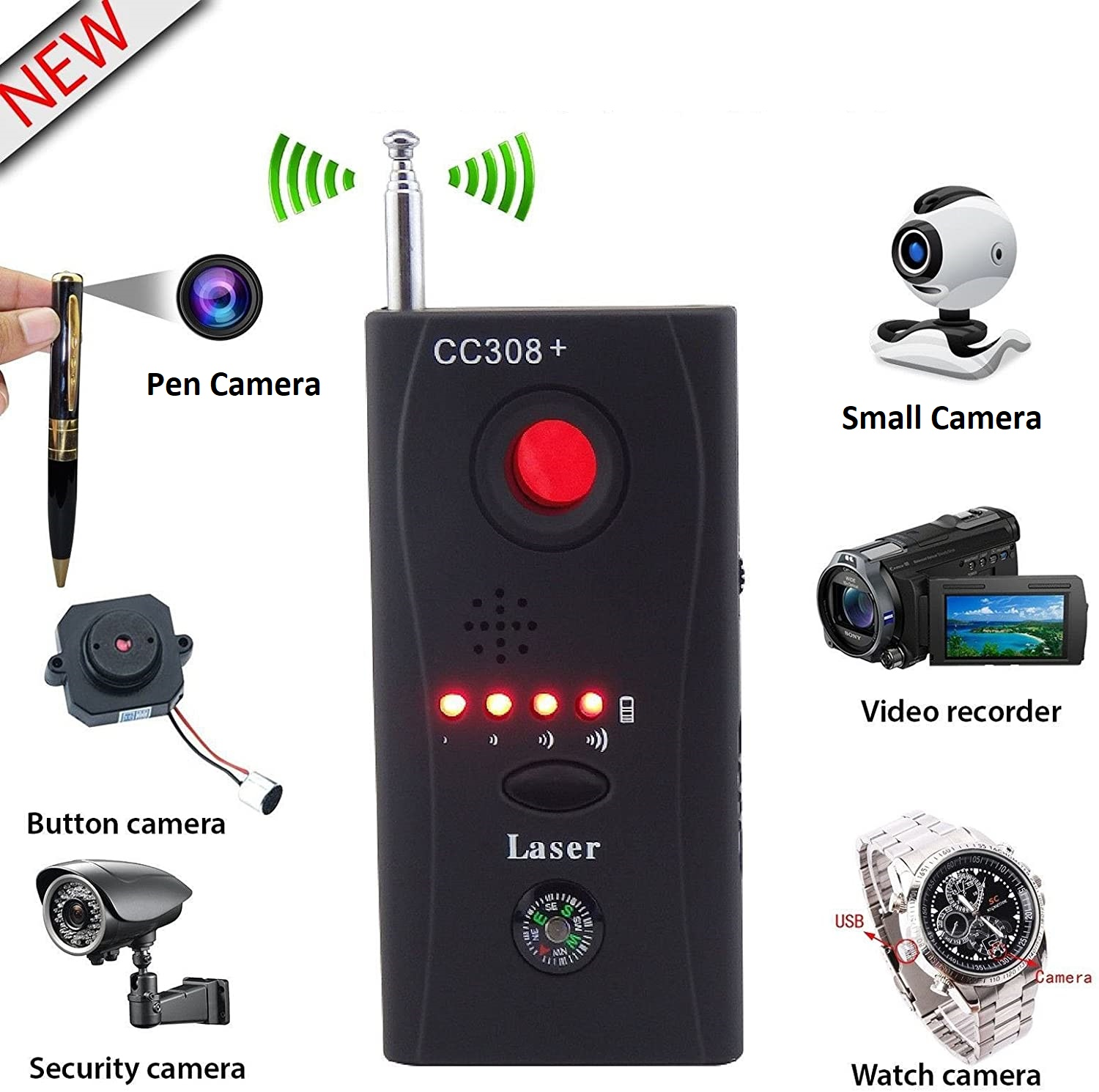Camera Detector Full frequency Bug Detector