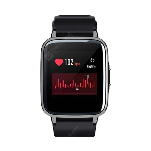 Haylou LS01Sport Modes 24H Heart Rate Monitor Smart Watch Global Version - Black