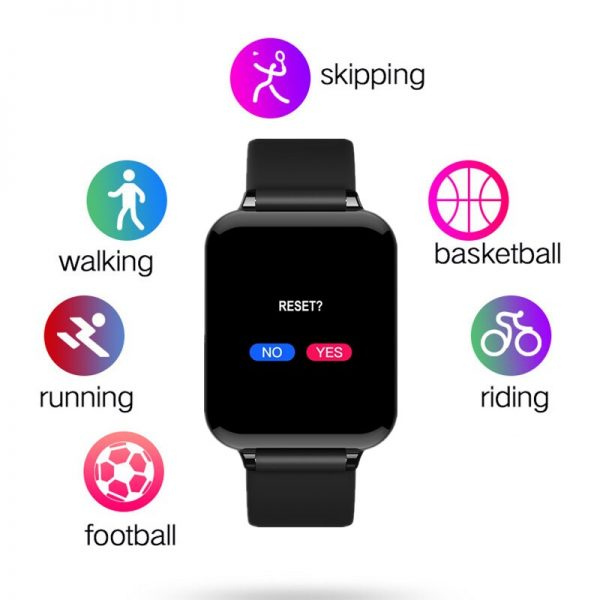 T500 Smart Helat Watch Heart Rate Monitor Apple Design BLACK